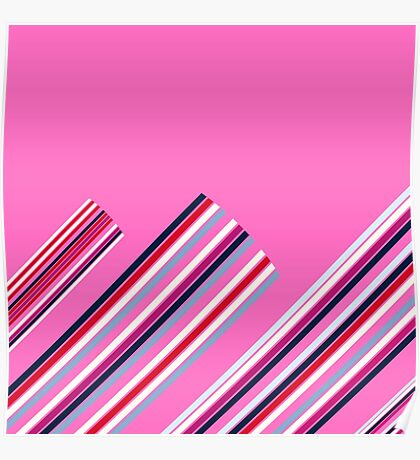 Luxury Artistic Fashion Collection with Retro Vintage Stripes - Luxury Collection Poster
