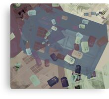 Call Box Chaos (Subdued) Canvas Print