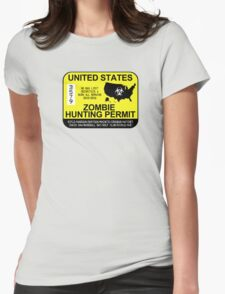 Zombie Hunting Permit 2015/2016 Womens Fitted T-Shirt