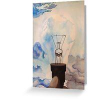 watercolor/ink light bulb Greeting Card
