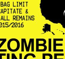 Zombie Hunting Permit 2015/2016 Sticker