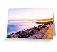 Warm and Cold Sunrise Byron Bay Greeting Card