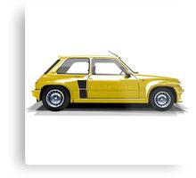Renault 5 Turbo (yellow) Metal Print