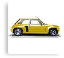 Renault 5 Turbo (yellow) Canvas Print