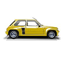 Renault 5 Turbo (yellow) Photographic Print