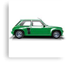 Renault 5 Turbo (green) Canvas Print