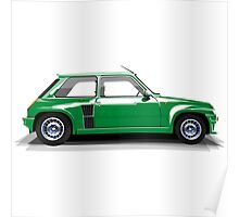 Renault 5 Turbo (green) Poster