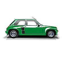 Renault 5 Turbo (green) Photographic Print
