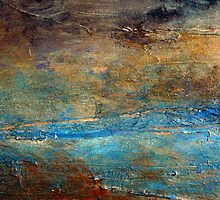 Contemporary Abstract Acrylic Textured Painting RUSTIC Artist Holly Anderson  by hollyanderson