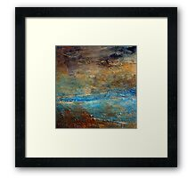 Contemporary Abstract Acrylic Textured Painting RUSTIC Artist Holly Anderson  Framed Print