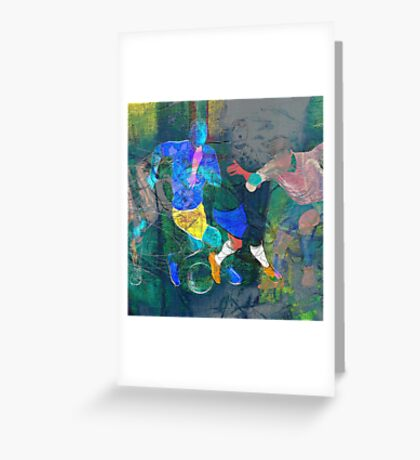 Soccer players Greeting Card