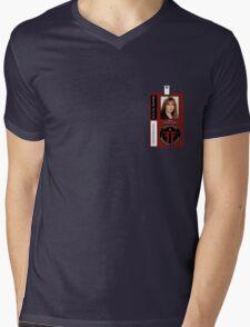 Fringe Parallel Universe Olivia Dunham ID Badge Shirt Mens V-Neck T-Shirt