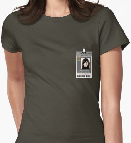 Torchwood Gwen Cooper ID Shirt Womens Fitted T-Shirt