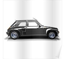 Renault 5 Turbo (black) Poster