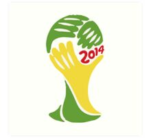 FIFA World Cup Logo Brazil 2014 Art Print