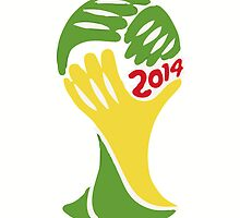FIFA World Cup Logo Brazil 2014 by JoAnnFineArt
