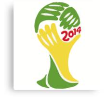 FIFA World Cup Logo Brazil 2014 Canvas Print
