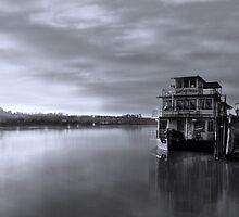 PS Captain Proud docked at wharf, Murray Bridge SA by Mark Richards