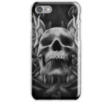 Skull And Rose's 5 BW iPhone Case/Skin