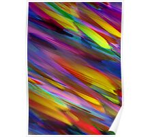 Colorful digital art splashing Poster