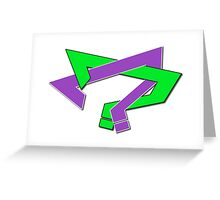 Question Marks Greeting Card