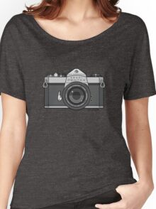 Asahi Pentax 35mm Analog SLR Camera Line Art Graphic Gray Women's Relaxed Fit T-Shirt