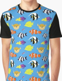 Clownfish and Friends Pattern Graphic T-Shirt