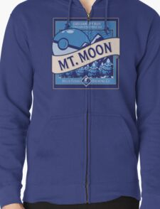 Mt. Moon Pokemon Beer Label Zipped Hoodie
