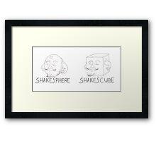 Shakesphere - Shakescube Framed Print