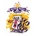 Retro Music Party Poster by Voysla