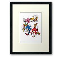 Classic Sonic Team Framed Print