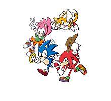 Classic Sonic Team Photographic Print