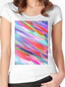 Colorful digital art splashing Women's Fitted Scoop T-Shirt