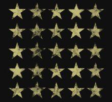 Distressed Gold Stars Pattern by ArtVixen