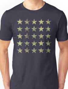 Distressed Gold Stars Pattern Unisex T-Shirt