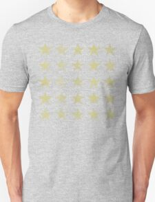 Distressed Gold Stars Pattern T-Shirt