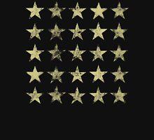 Distressed Gold Stars Pattern Women's Tank Top