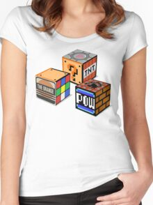 Geeky Cubes Women's Fitted Scoop T-Shirt