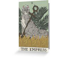 Warriors Tarot Series- The Empress Greeting Card