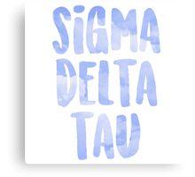 Sigma Delta Tau Canvas Print