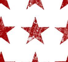 Distressed Red Stars Pattern Sticker