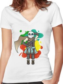 creating new worlds is tiring Women's Fitted V-Neck T-Shirt