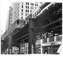 Chicago Train Poster