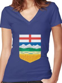 Alberta Crest Women's Fitted V-Neck T-Shirt