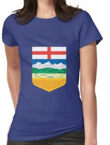 Alberta Crest Womens Fitted T-Shirt