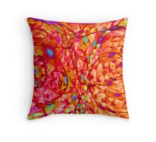 Orange waterpainting style Throw Pillow