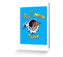 The Regular & Stimpy Show Greeting Card