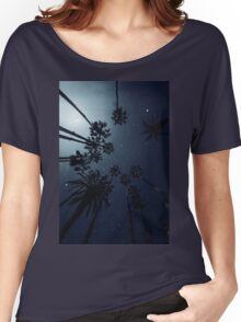 Palm Trees, Night Sky, Stars, Moon Women's Relaxed Fit T-Shirt