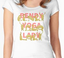 Bendy Yoga Lady Yogini Pony Women's Fitted Scoop T-Shirt