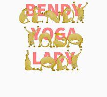 Bendy Yoga Lady Yogini Pony Women's Fitted Scoop T-Shirt